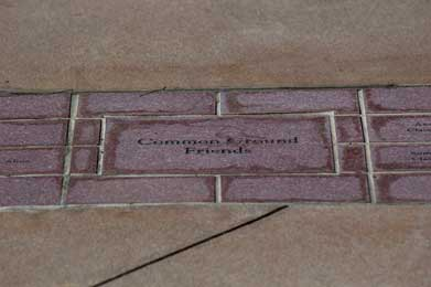 Donor recognition paver at St. John's picture 1