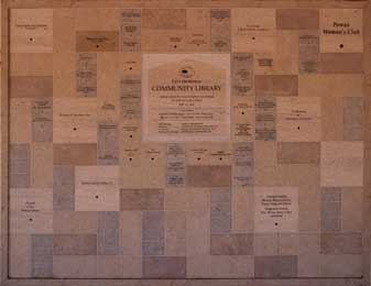 Donor recognition wall in Poway California picture 1