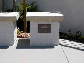 Granite Memorial Walls at Foothills Methodist Church in La Mesa, California Picture 2