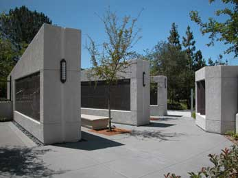 Granite Memorial Walls at Foothills Methodist Church in La Mesa, California Picture 3