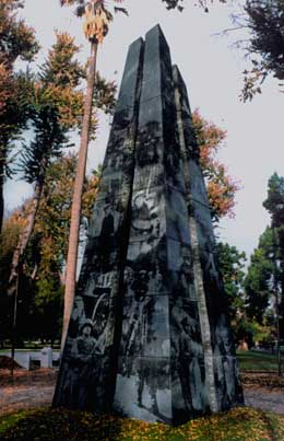 40' Tall Granite Veterans Memorial in Sacramento California