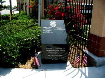 Veteran Memorial for all fallen Oceanside California Police Officers Picture 1